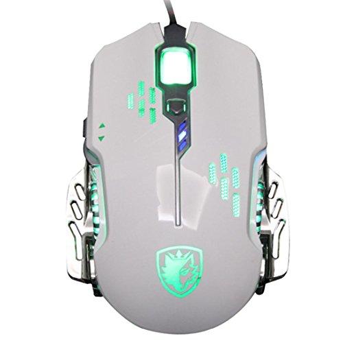 Mäuse, ourmall Sades 2400Kabelgebundene optische LED 6Tasten Gaming Maus, verstellbare DPI, für Pro Gamer (Schlüssel-tastatur 88 Staubschutz)