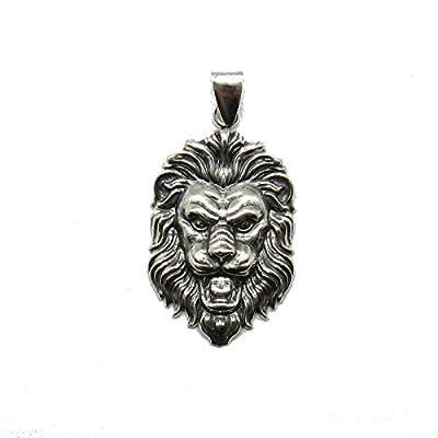 Pendentif en argent massif 925 Lion PE001323