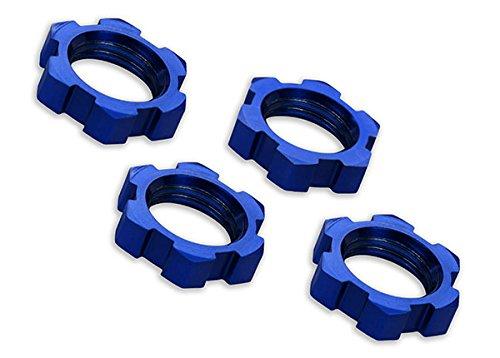 Traxxas 7758Radmuttern, Keilprofil, 17mm, Wellenschliff (Blue-Anodized) (4)