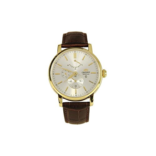 Orient Men's Automatic Brown Calfskin Synthetic Sapphire Watch FEZ09002S0