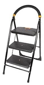 BRANCO GEC-L3M Milano 3 Steps Folding Ladder with Wide Step (50 x 48 x 82 cm)