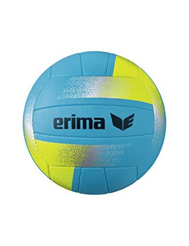Erima Unisex- Erwachsene King of The Beach Volleyball, Aqua/gelb, 5