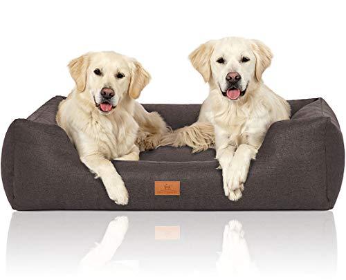 Knuffelwuff 14095-007 Hundebett Hundekörbchen Hundesofa Hundekissen Hundekorb Bezug Waschbar Malia...