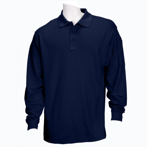 5.11 Tactical # Stück Long Sleeve Performance Polo Shirt Größe L dunkles marineblau (Polo Lg Performance)