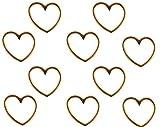 Sadingo Schmuckverbinder Herz Rosegold, Anhänger Herz Armbänder, DIY Schmuck, Großpackung Großhandel, 10 Stück, 15x16 mm