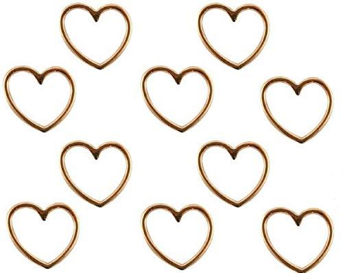 nder Herz Rosegold, Anhänger Herz Armbänder, DIY Schmuck, Großpackung Großhandel, 10 Stück, 15x16 mm ()