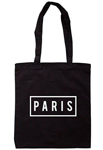 Breadandbutterthreads Paris box Tote 37.5cm x 42cm con manici lunghi Black