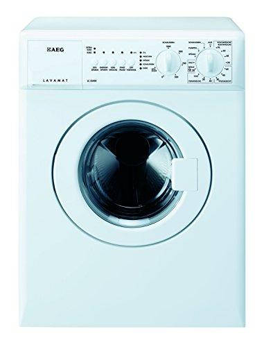 AEG LC53500 Waschmaschine Frontlader / Kompaktwaschmaschine mit 3 kg Trommel / kleiner Waschautomat mit Startzeitvorwahl / Energieklasse A+++ (126 kWh/Jahr) / Programme für Wolle und Zeitsparen / weiß