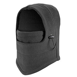 Ainstsk Winter Windproof Fleece Full Face Neck Guard Masks, Neck Warmer Hooded Hat Wind Protector Mask, Headgear Hat Riding Hiking Outdoor Sports Cycling Masks Balaclava Mask(Gray)