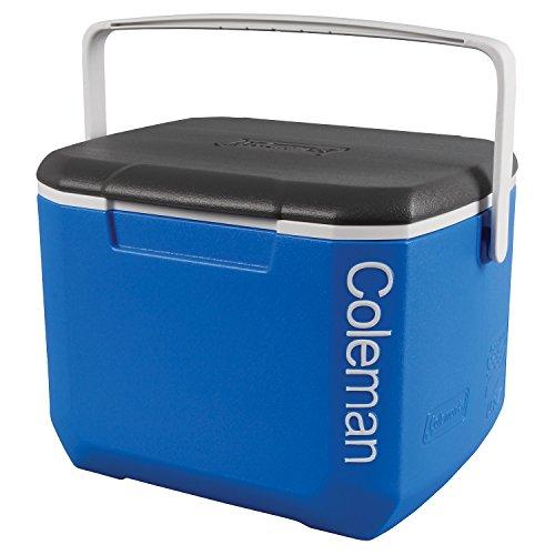 4148Ytgz%2BmL. SS500  - Coleman Adult Flower COLEMAN16Qt Excursion Cooler Cool Box Blue/White/Charcoal, Blue, L