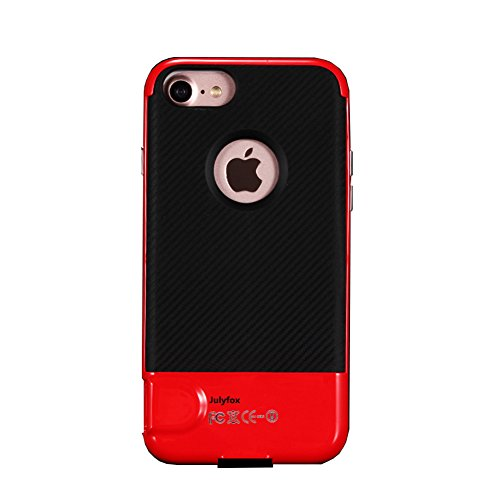 Julyfox iPhone6/iPhone6s Memory Expansion Case 256GB Micro SD/TF Card Supported iPhone 6/6s Card Reader and Shockproof Scratchproof Case Made of High Hardness PC Material(Red) (Expansion Memory Card)