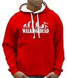Walking dead - Zombie evolution - BICO Hoodie Sweatshirt mit Kapuze rot-weiss Gr.XL