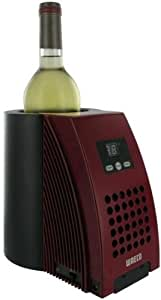 Rafraichisseur pour 1 bouteille : alimentation sur secteur, sans fil ou sur allume-cigare - 1 temp. - WAECO - Coloris Rouge et Noir - ACI-WAE310