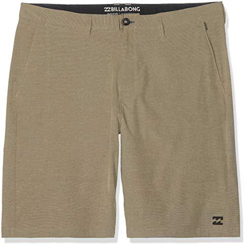 BILLABONG Herren Crossfire X Shorts, Khaki, 32 - Beige Logo Jacquard