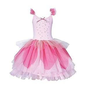 Pink Poppy - Vestito a tutù, motivo: melo in fiore, colore: rosa pallido