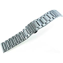 JRRS7777 24mm Solid Stainless Steel Wristband Watch Bracelet Titanium Brushed New Band