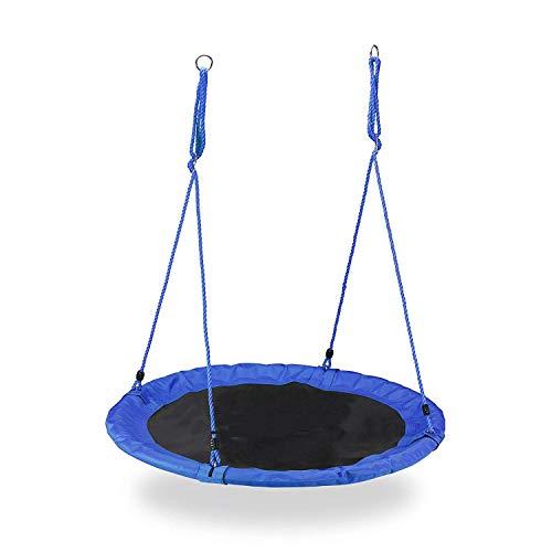 Maxx Nestschaukel, runde Hängeschaukel, für Kinder & Erwachsene, verstellbar, draußen, Ø: 110 cm, bis 100 kg