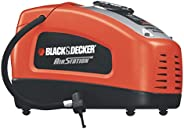 Black+Decker 12V DC Portable Electric Ait Station Inflator Compressor for Bike, Cars, Inflatables and Sports B