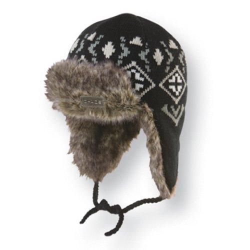 Chaos Mützen Herren Löhnen Knit Acryl Trapper Hat, Herren, schwarz (Bomber Trapper Hats)