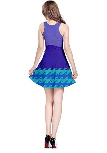 CowCow Damen Kleid blau navy Purple Jaws