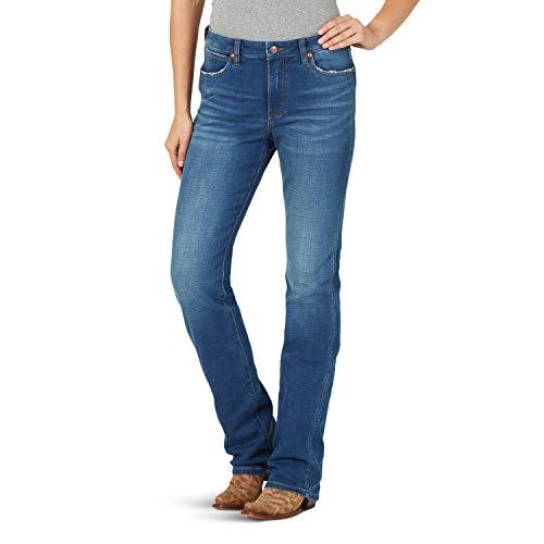 Wrangler Damen Retro Premium High Waist Stacked Boot Jeans, Canton, 32W x 34L Gloria-boot