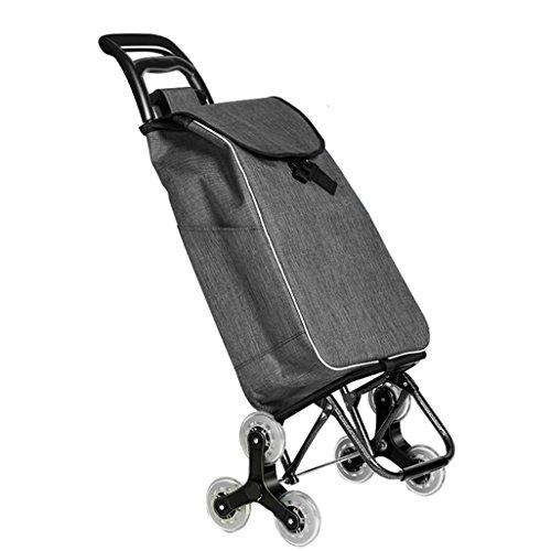 Einkaufstrolleys Treppensteigen leicht faltbar einkaufen Reise | Lebensmittelgeschäft-Laufkatzen-Wagen-Rad-Oxford-Gewebe-Mobilitäts-Laufkatzen-Beutel-Wagen-Markt-Kapazität 39L Hochleistungs-Max.40KG i