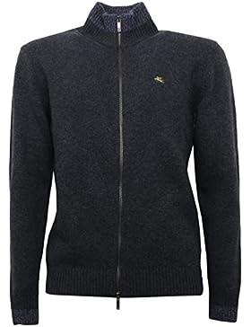 B5294 maglione uomo ETRO grigio melange wool sweater men