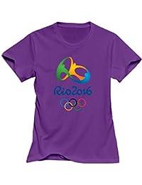 Rio 2016 Juegos Olímpicos 100% algodón camisetas para las mujeres