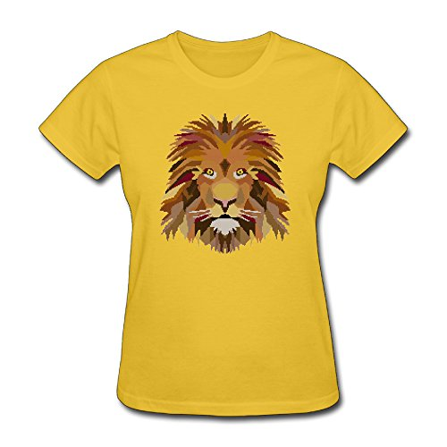 George Oy Head Of Lion Cross Womens Beautiful O-Neck Short Sleeve T-Shirt Ladies Tees