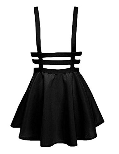 hqclothingbox Womens Pleated Short Braces Skirt (FBA)