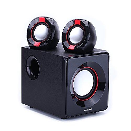 YUNMEI Altavoces Subwoofer 2.1 de Sonido Bluetooth Estéreo de Audio Compatible con...