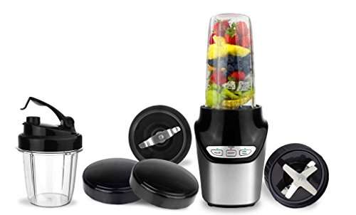 Deluxe Nutrition Extractor 1000 W Mixer Smoothie Maker Entsafter Universal Zerkleinerer Standmixer Blender Shaker Chopper (silber) (Chopper Und Blender)