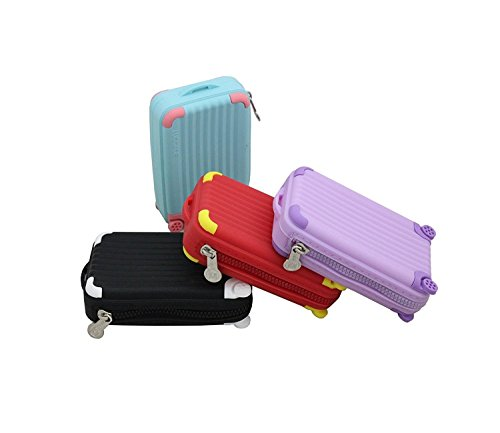 Silicon Suitcase Shape Coin Pouch (1 Piece of silicon pouch) (Material: silicon, Size: 12cms X 8cms X 3cms, Colour : Multiple colour will be send as per availability)