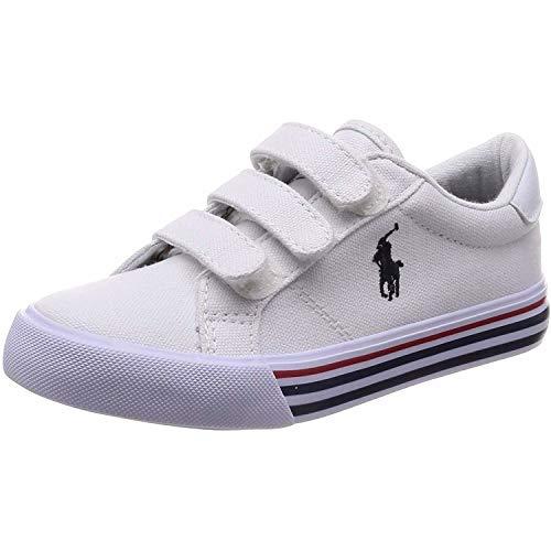 Polo Ralph Lauren Edgewood EZ Weiß Segeltuch 28 EU - Polo Sneaker Lauren Kinder Ralph