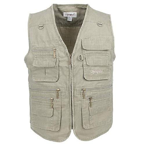 GERPY 2019 Angeln Weste Sommer Casual mesh männer im freien Weste mit Taschen regelmäßige Zwei Farben Plus größe 3XL Baumwolle Weste -