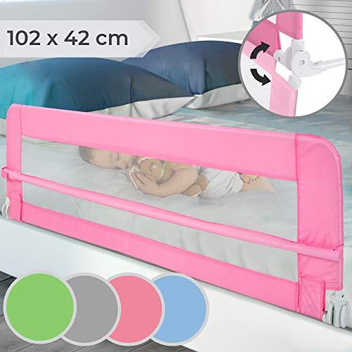 Bettgitter klappbar | Farbwahl, Größe: 102/42cm, einfache Montage, passend für Kinderbetten,...