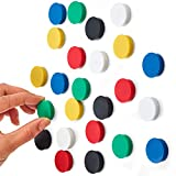 Scribble MAG25ASS/25 Colourful Round Refrigerator and Whiteboard Magnets, Assorted Colours, 25mm (24 Pack)