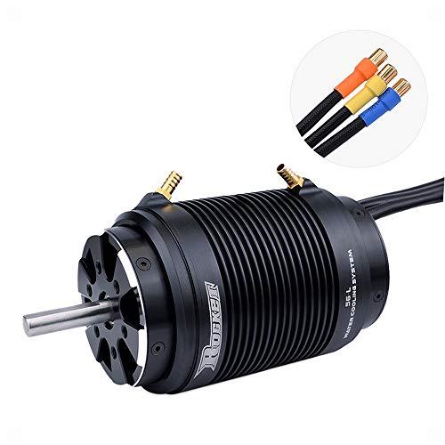 Especificaciones del motor: Marca: SURPASS HOBBY Nombre del artículo: 600KV Motor sin escobillas Vatios: 6300W Voltaje máximo: 50V Max Amps: 126A Polos de rotor: 4 IO: 1.8A Kv (RPM / Volt): 600KV RPM máx .: 30000 Diámetro: alrededor de 56 mm Longitud...
