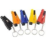 Bluelans® 1 x Nothammer Notfallhammer Gurtschneider Gurtmesser Sicherheit Rettungswerkzeug als Schlüsselanhänger (Zufällige Farbe)