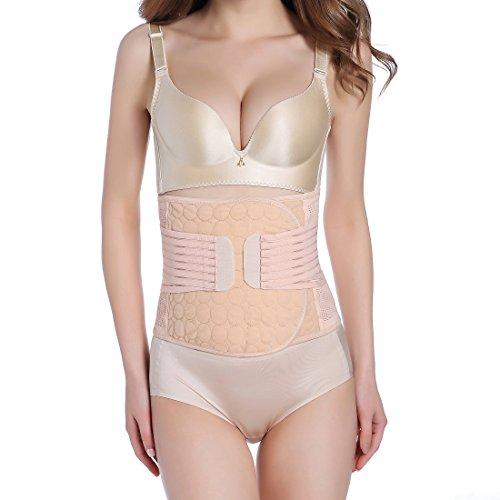 Ponmoo post partum cintura maternità recupero waist trainer cincher corsetto latex bustino body shaper modellante trimme ventre corsetto addome cintura