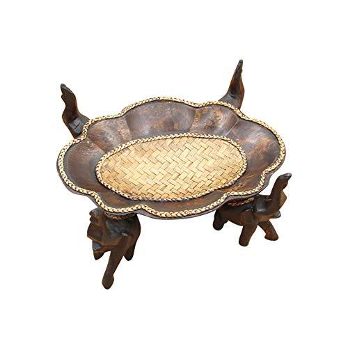 PORCN Obstteller aus Holz 1 stücke Holz Candy Dish Elefant Stehen Elegante Snacks Gericht Obstschale Sparteller Dessert Teller für Büro Resturant Home, 22 *   15 * 11 cm Holz Candy