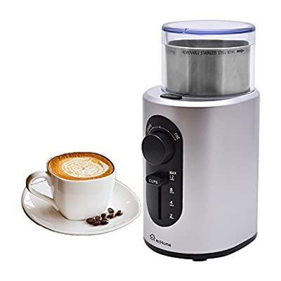 ecHome Electric Coffee Stainless Steel Blade Grinder Grinding Mill Coarse Selection Nut Beans Spice Blender