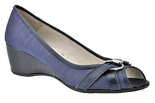 Stonefly Decoltè Pacco 50 Heel Pumps Nouveau Bleu