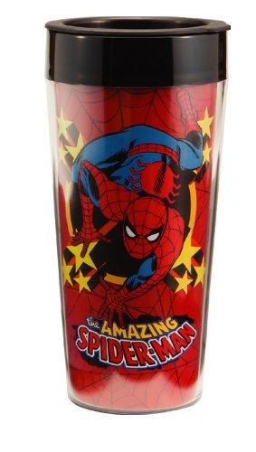 Vandor 26051 Marvel Spider-man 16 oz Plastic Travel Mug, Multicolor by Vandor, LLC