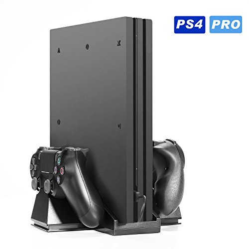 KingTop PS4 PRO Lüfter Standfuss Ladestation für PS4 Controller PS4 Kühlventilator mit USB-HUB Ports - Cm Boden-fan 20