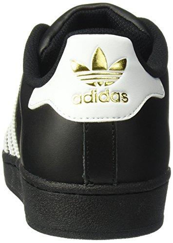 Adidas Superstar Foundation, Sneakers Unisex Adulto Nero bianco