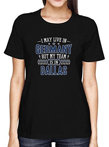 Cowboys Mein Team Premium T-Shirt | Dallas | Football | Sport | Frauen | Shirt, Farbe:Schwarz (Deep Black L191);Größe:L