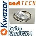 K-04 Halogen Led Aluminium Schwenkbar Einbaulechte Einbauspot 230v 12v von Kwazar Leuchte