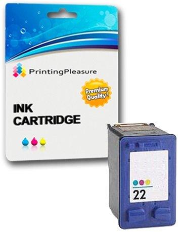 Printing Pleasure Color Cartucho de Tinta Compatible para HP Deskjet 3940 F2120 F2180 F2280 F370 F380 F4180 D1460 D2320 D2345 D2360 D2460 Officejet 4315 PSC 1410 | Reemplazo para HP 22XL (C9352AE)