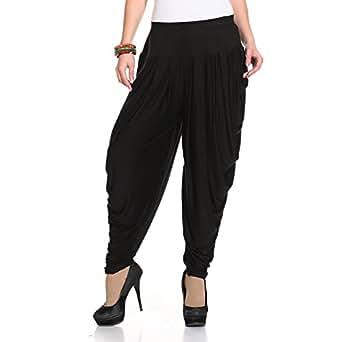 Isabella Dhoti Pants for Women (Black)